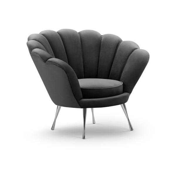 Varenne sötétszürke bársony fotel - Interieurs 86