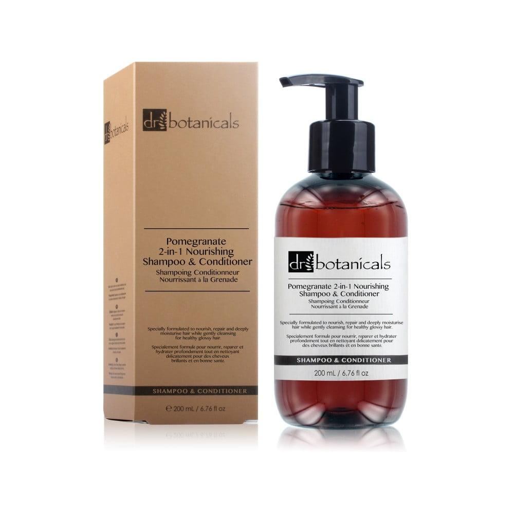 Šampon a kondicionér na vlasy Dr. Botanicals Pomegranate 2-in-1 Nourishing