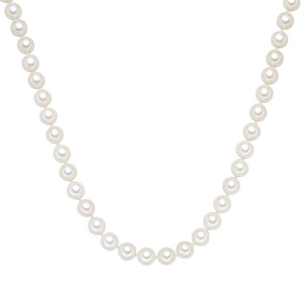 Perlový náhrdelník Muschel, bílé perly 10 mm, délka 60 cm