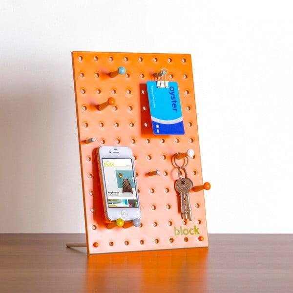 Multifunkční nástěnka Pegboard 30x20 cm, oranžová