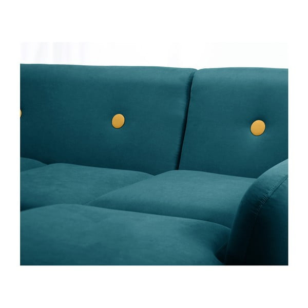Canapea cu șezlong pe partea dreaptă Scandi by Stella Cadente Maison, verde închis