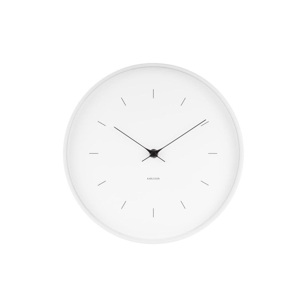 Bílé nástěnné hodiny Karlsson Butterfly, ø 27,5 cm