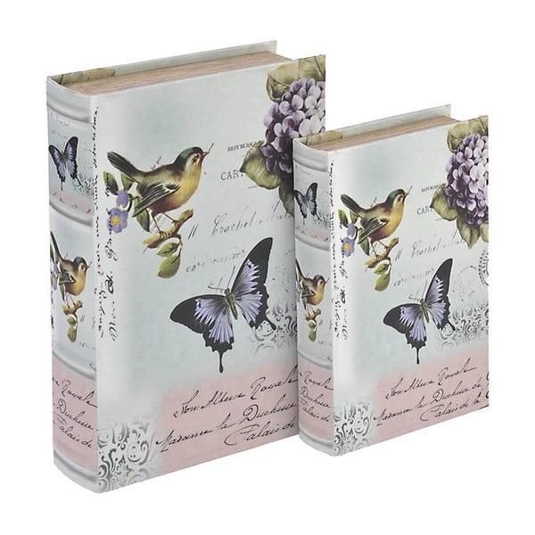 Sada 2 boxů Wooden Book