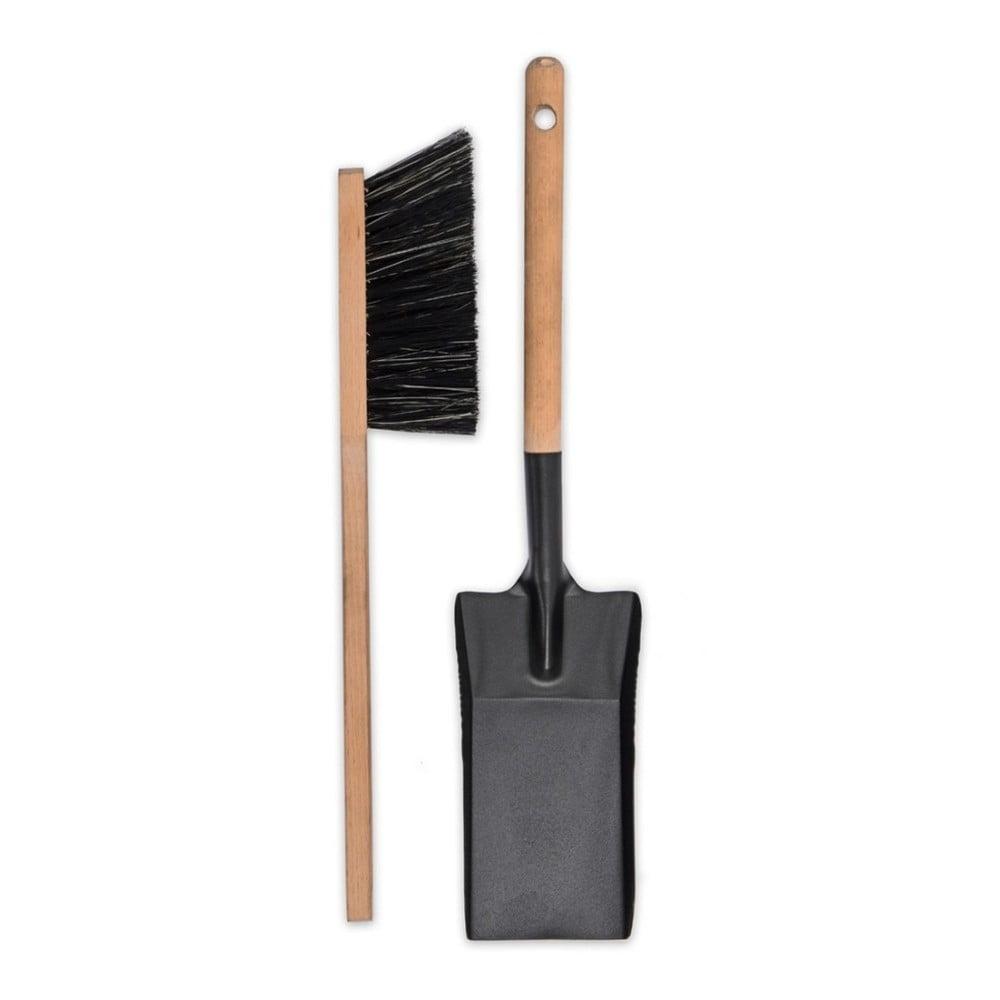 Krbová lopatka a smetáček s rukojetí z bukového dřeva Garden Trading Jutland