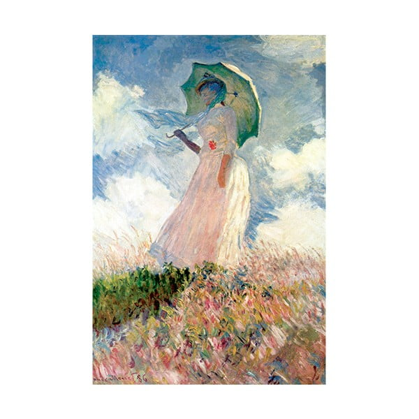 Tablou Claude Monet - Woman with Sunshade, 45x30 cm
