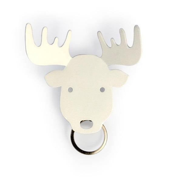 Věšák na klíče Moose, bílý