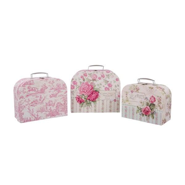 Sada 3 úložných kufříků Roses