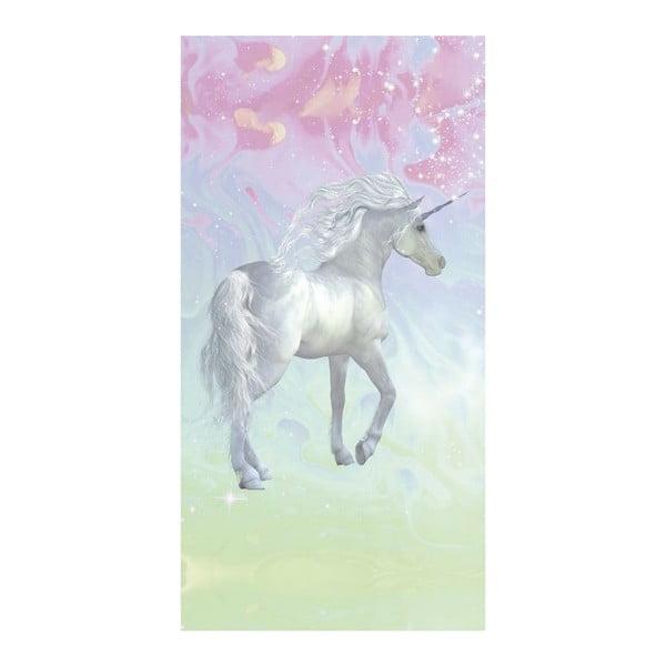 Prosop de plajă cu imprimeu Good Morning Unicorn, 75x150cm