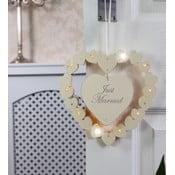 Svatební dekorace s LED světly Just Married