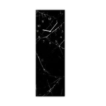 Ceas de perete Styler Glassclock Black Marble, 20 x 60 cm