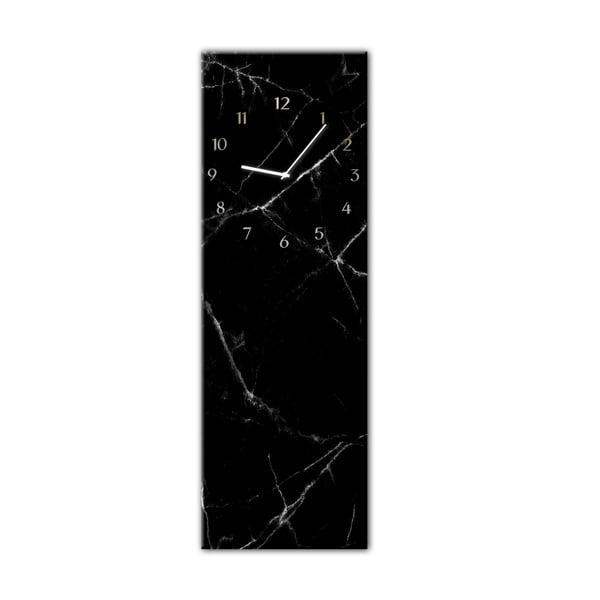 Glassclock Black Marble falióra, 20 x 60 cm - Styler