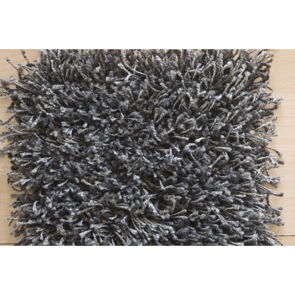 Koberec Super Shaggy 160x230 cm s 5 cm dlouhým vlasem, šedý