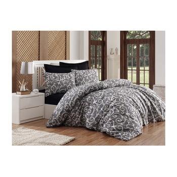 Lenjerie de pat cu cearșaf Permento Samuka, 200 x 220 cm de la EnLora Home