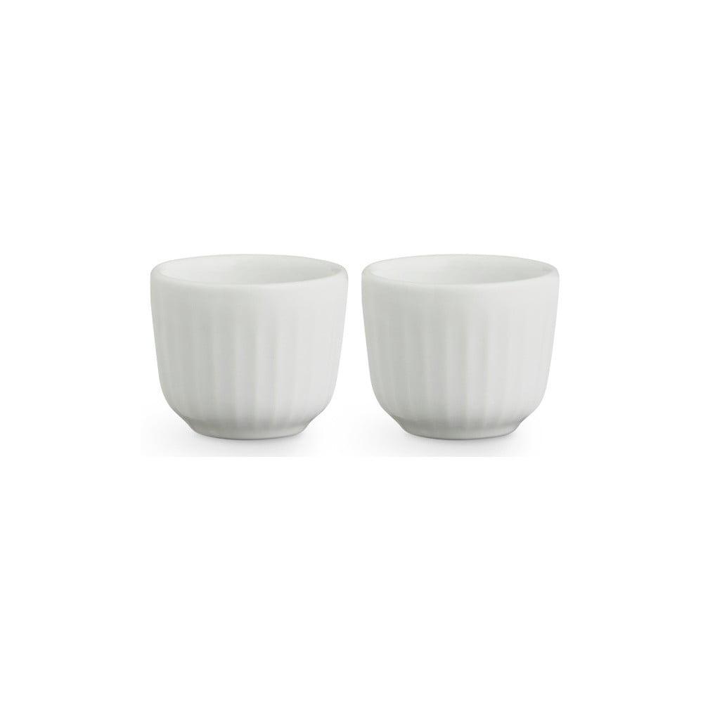 Sada 2 bílých porcelánových misek na vajíčka Kähler Design Hammershoi, ⌀ 8 cm Kähler Design