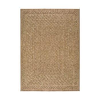 Covor pentru exterior Universal Jaipur Berro, 80 x 150 cm, bej imagine
