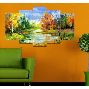 5dílný obraz Podzimní