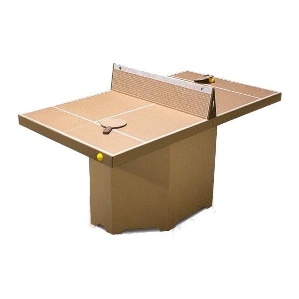 Kartonový pingpongový stůl Kartoni Tennino, přírodní