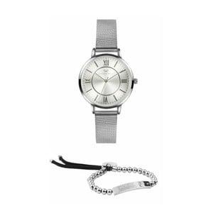 Set dámských hodinek s řemínkem z chirurgické oceli a náramku Victoria Walls Asia