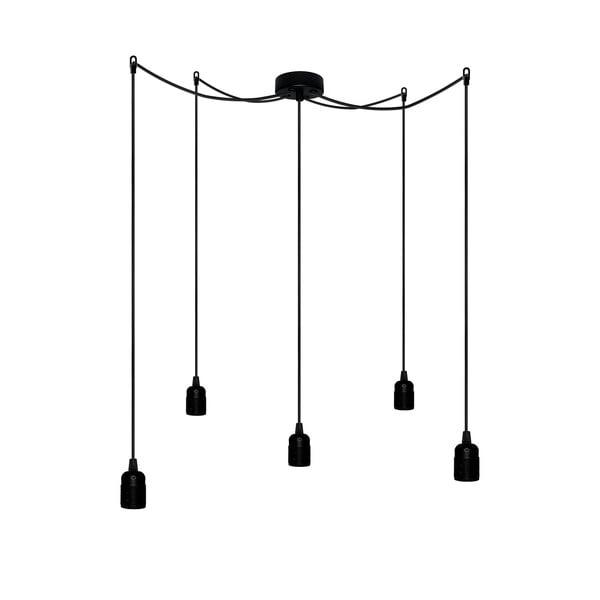 Pět závěsných kabelů Uno, černá/černá