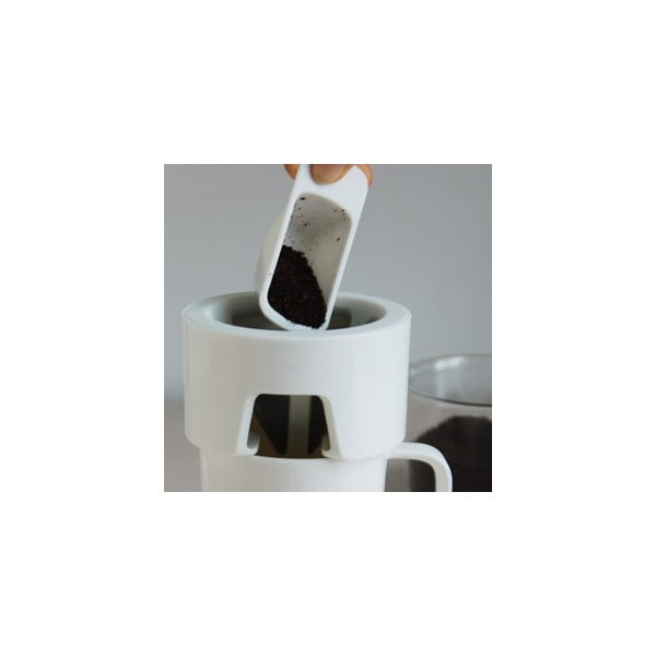 Hrnek na přípravu kávy Column, bílý