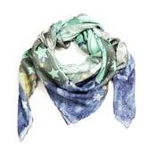 Vlněný šátek s kašmírem Stags in Space, 130x130 cm