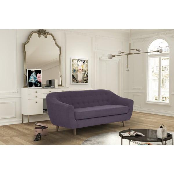 Tmavě fialová trojmístná pohovka Jalouse Maison Vicky