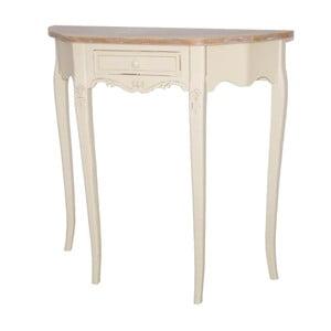 Krémový konzolový stolek z topolového dřeva Livin Hill Rimini