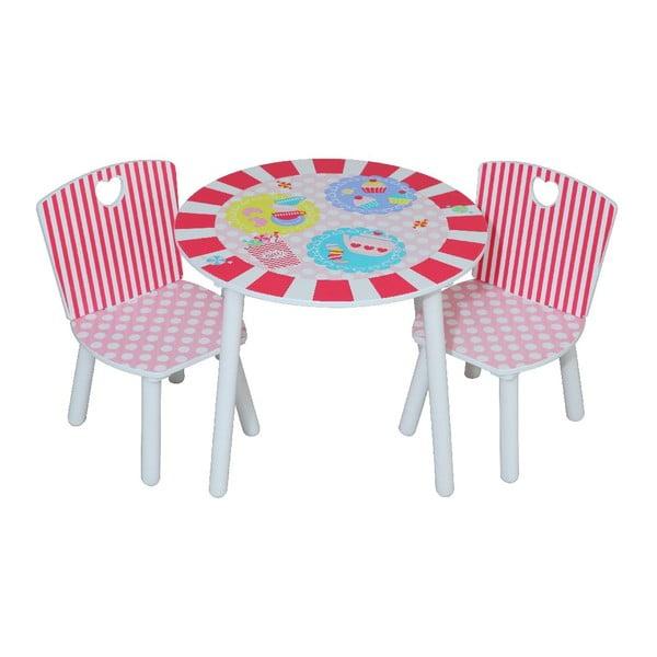Dětský stolek a 2 židle Patisserie