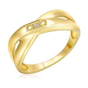Pozlacený prsten s pravým diamantem Tess Diamonds Rosalind, vel. 56