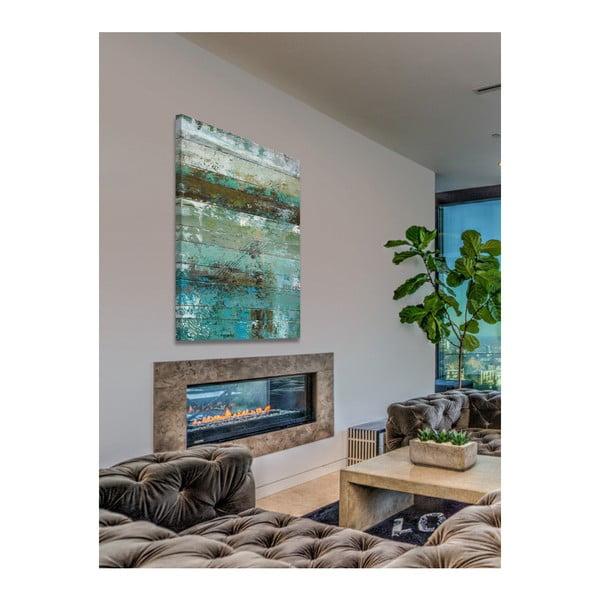 Obraz na plátně Marmont Hill Aqua Wood, 61 x 41 cm