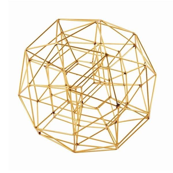 Dekorace Globe Brass, 21 cm