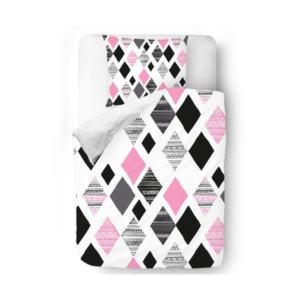 Povlečení Pink Geometry, 140x200 cm