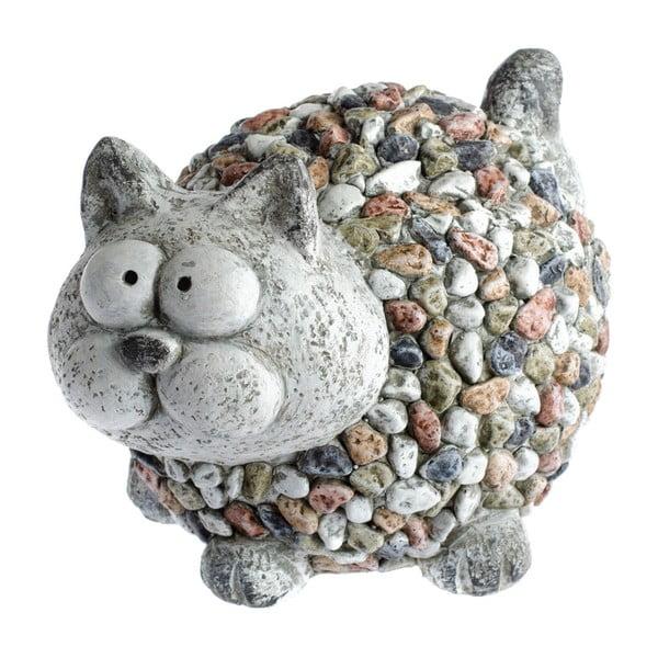 Decorațiune de grădină Dakls Garden Deco Cat With Stones, înălțime 20 cm