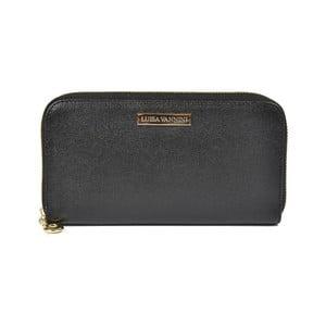 Černá kožená peněženka Luisa Vannini Daira