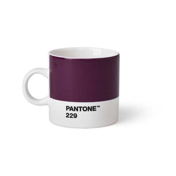 Tmavě fialový hrnek Pantone 229 Espresso, 120 ml