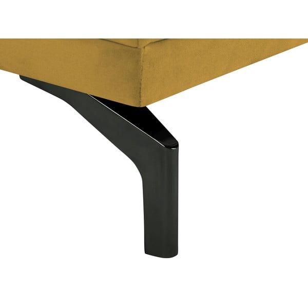 Žlutá dvojmístná pohovka s podnožím v černé barvě Windsor & Co Sofas Jupiter