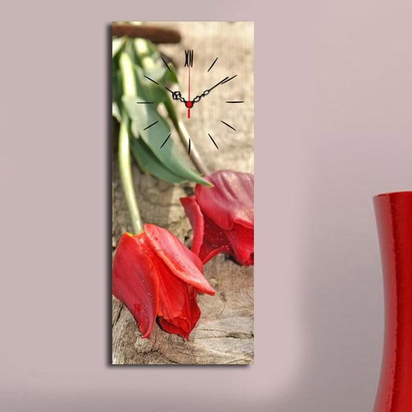 Obrazové hodiny Tulipány