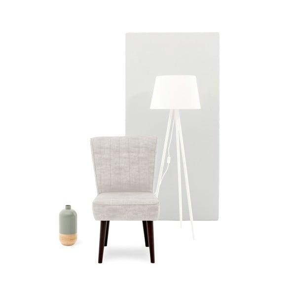 Béžová čalouněná židle Vivonita Leila