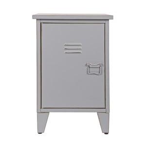 Noční stolek Max, šedý, levostranné otevírání
