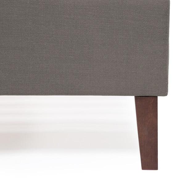 Šedá postel Vivonita Windsor Linen, 200x160cm