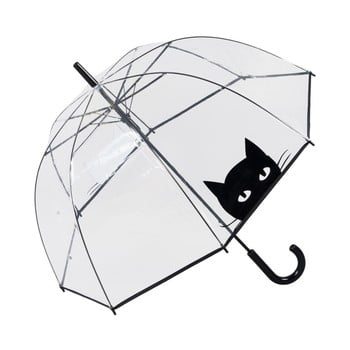Umbrelă Ambiance Looking Cat, ⌀ 85 cm, transparent de la Ambiance
