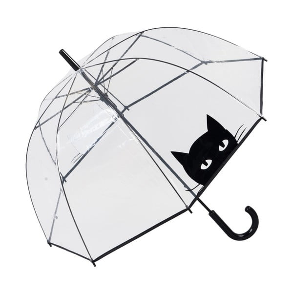 Umbrelă Ambiance Looking Cat, ⌀ 85 cm, transparent