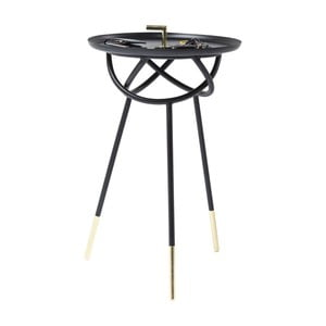 Černý odkládací stolek Kare Design Atomo, ⌀41cm