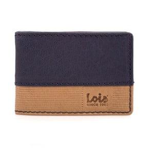 Kožená peněženka Lois Blue Block, 10x7 cm