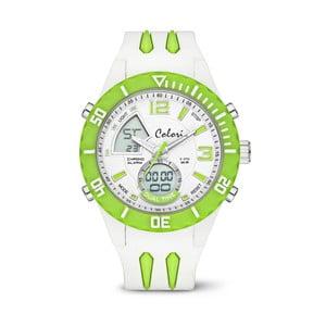 Hodinky Colori Anadigi 48 White Neon Green