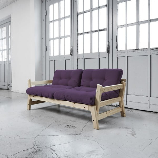 Rozkládací pohovka Karup Step Natural/Purple