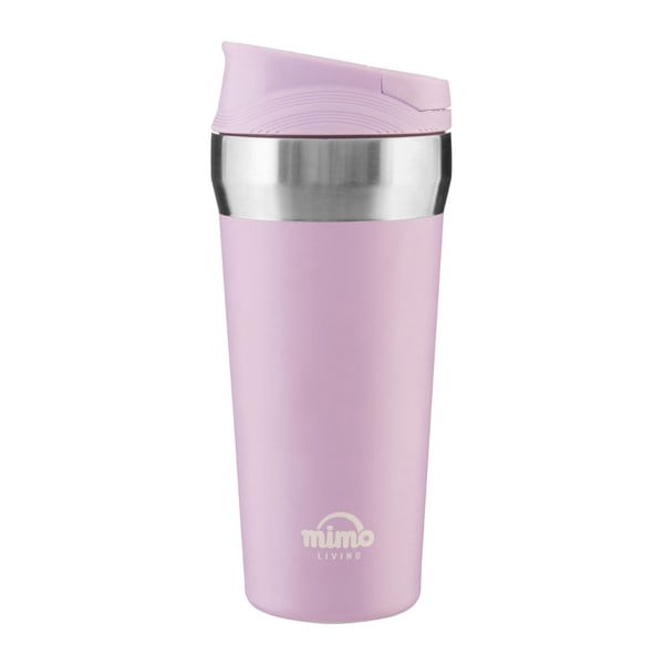 Pahar termos de voiaj Premier Housewares Travel, 380 ml, roz