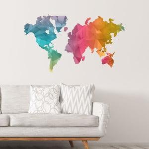 Samolepka mapa světa Ambiance Colour
