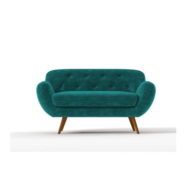 Sofa Zefir pro dva, tyrkysové
