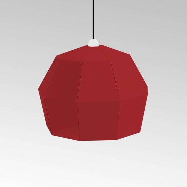Kartonové svítidlo Uno Fantasia A Red, s černým kabelem